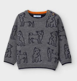 Mayoral Jacquard Print Sweater Brg Cement