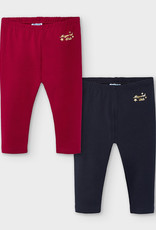 Mayoral Basic Leggings Set Red & Navy