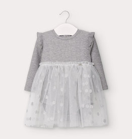 Mayoral Tulle Dress Silver