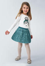 Mayoral Pleated Skirt Duck Green