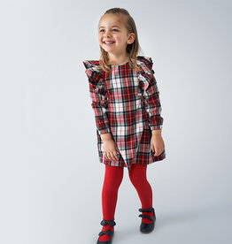 Mayoral Plaid Dress Carmine Red