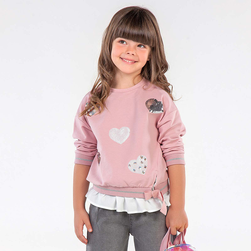 Mayoral Hearts Pullover Blush