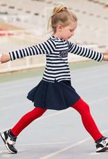Mayoral Stripes Dress Navy