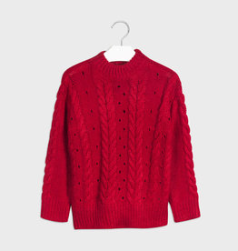 Mayoral Knit Sweater Carmine Red