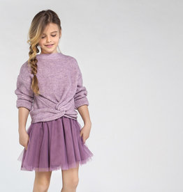 Mayoral Combined Knit Dress Mauve