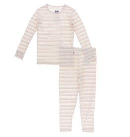 Kickee Pants LS PJ Set Everyday Heroes Sweet Stripe