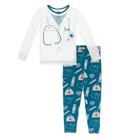 Kickee Pants LS PJ Set Oasis Medicine