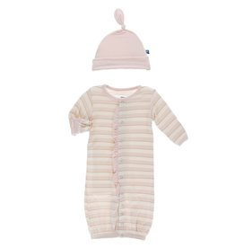 Kickee Pants Ruff Gown Conv & Hat Set Everyday Heroes Sweet Stripe