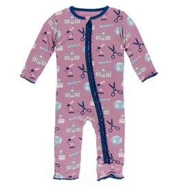 Kickee Pants Muff Ruff Coverall w/ Zipper Pegasus Education