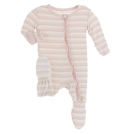 Kickee Pants Muff Ruff Footie w/ Zipper Everyday Heroes Sweet Stripe
