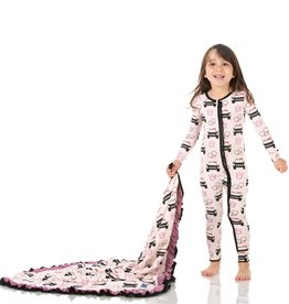 Kickee Pants Muff Ruff Coverall w/ Zipper Macaroon Law