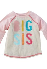 Mud Pie Big Sis Shirt & Pennant Set, Med (2T/3T)