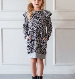 Mabel & Honey Wild Love Girls Dress Grey