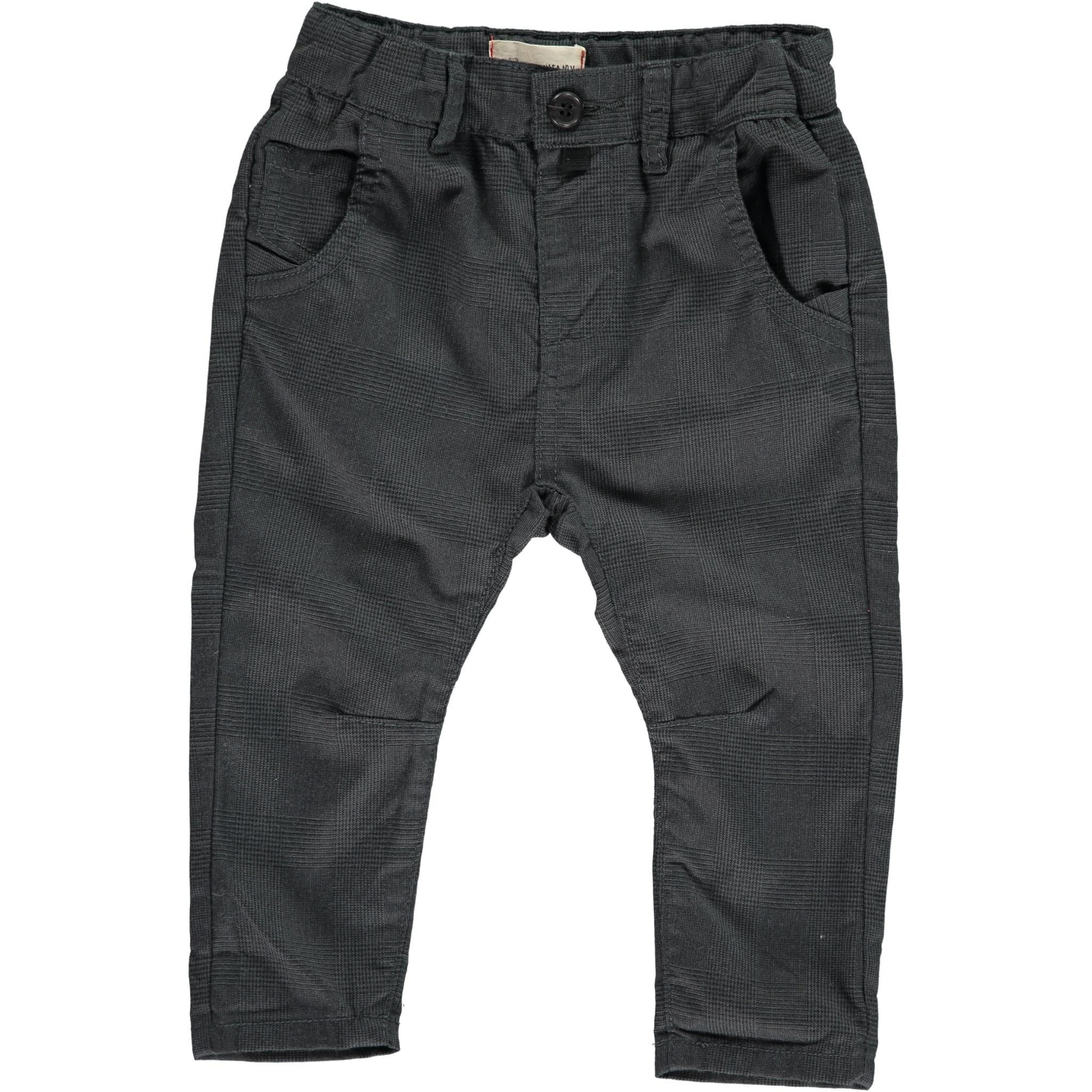 Me & Henry Black Dogtooth Baby Pants