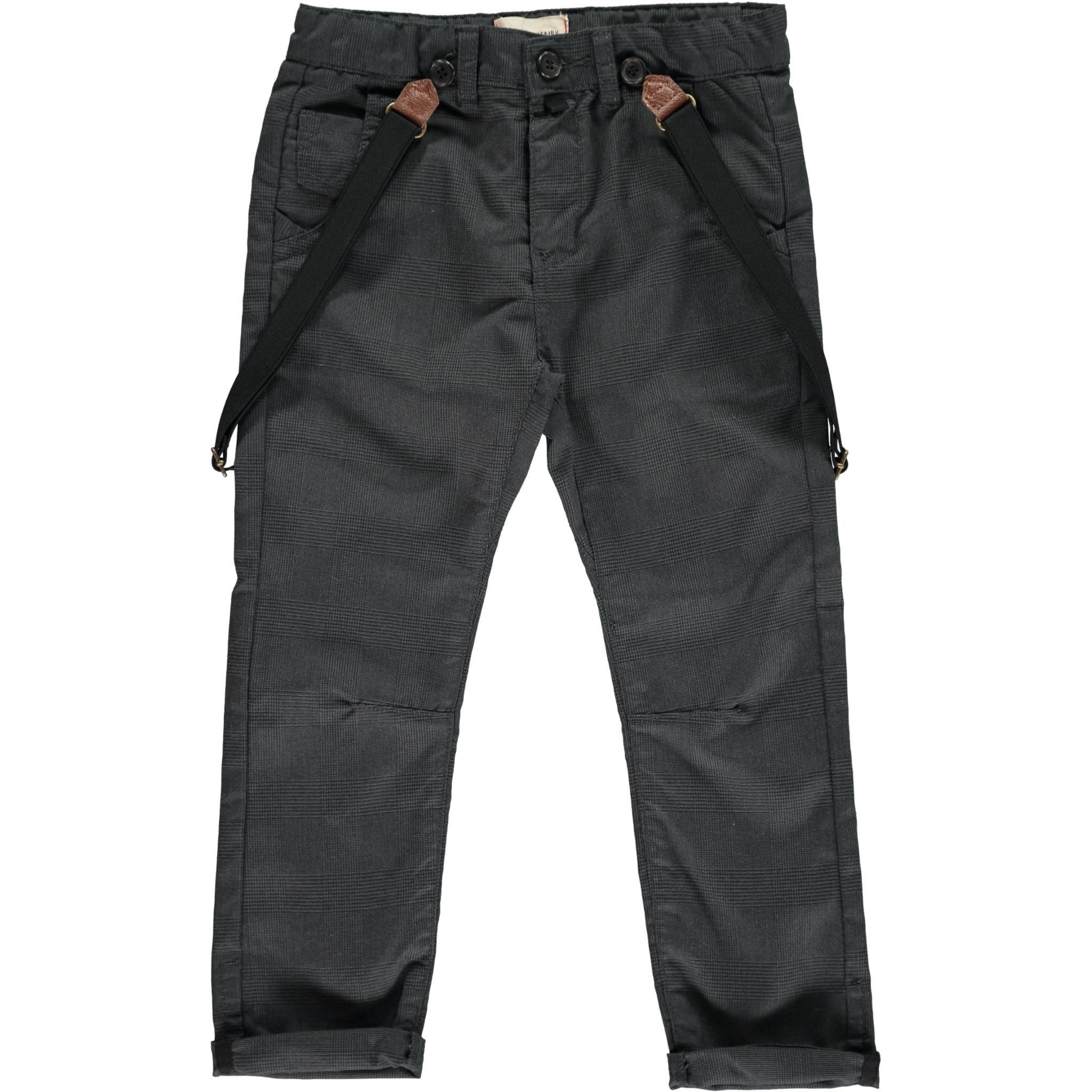 Me & Henry Black Dogtooth Woven Trousers