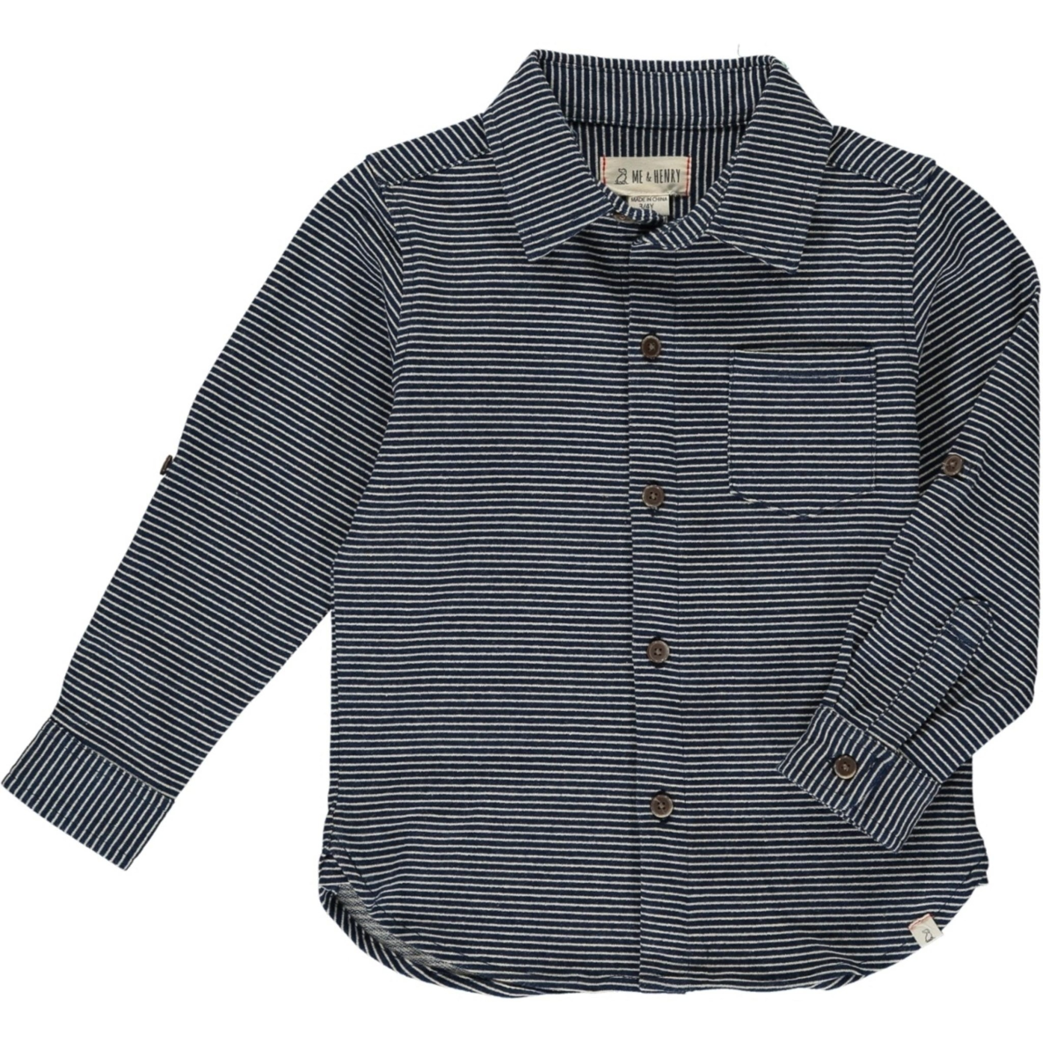 Me & Henry Blue/White Stripe Jersey Shirt