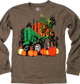 Wes And Willy Fall Harvest LS Tee Chocolate Blend