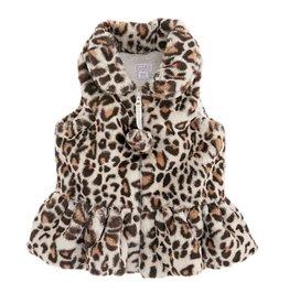 Mud Pie Ivory Faux Leopard Vest