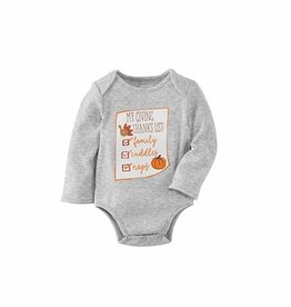 Mud Pie Pumpkin Spice Onesie