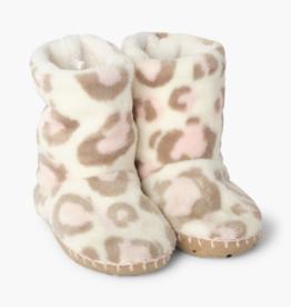 Hatley Painted Leopard Fleece Slippers
