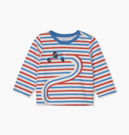 Hatley Race Car Doggy LS Baby Tee