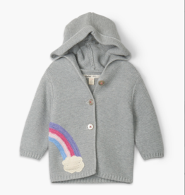 Hatley Shimmer Grey Baby Sweater Hoodie