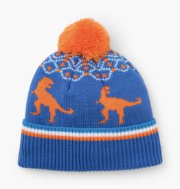 Hatley Winter T-Rex Hat Blue
