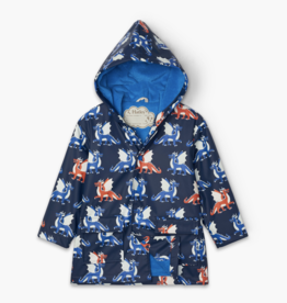 Hatley Dragons Color Changing Raincoat Navy