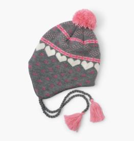 Hatley Winter Hearts Tapper Hat Grey