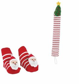 Mud Pie Santa Pacy Clip & Sock Set