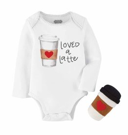 Mud Pie Latte Rattle & Onesie Set