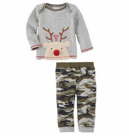 Mud Pie Reindeer Camo 2pc Set