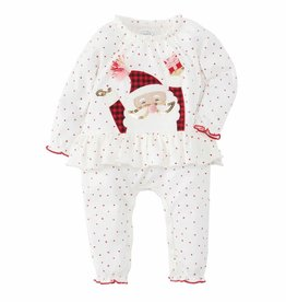 Mud Pie Red Santa Romper