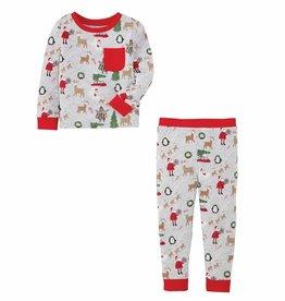 Mud Pie Boy Christmas Pajamas