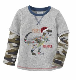 Mud Pie Camo Merry Rex-mas Tee