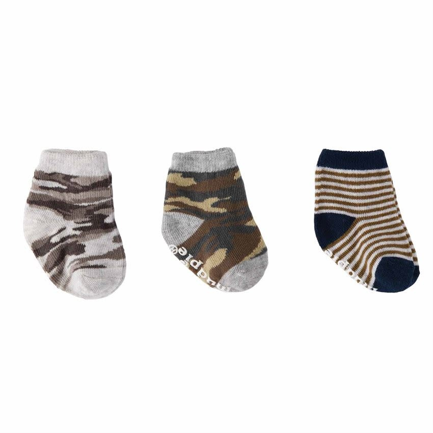 Mud Pie Camo Newborn Sock Set