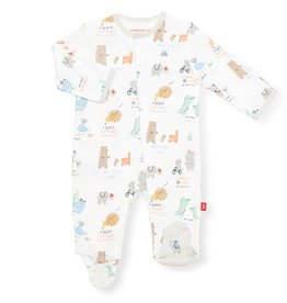 Magnificent Baby My Year of Firsts Organic Cotton Magnetic Footie