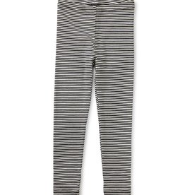 Tea Collection Striped Leggings Jet Black