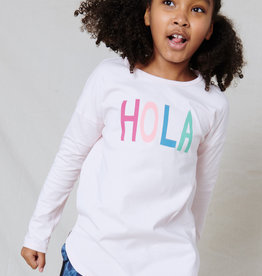 Tea Collection Hello Goodbye HiLo Tee Crystal Pink