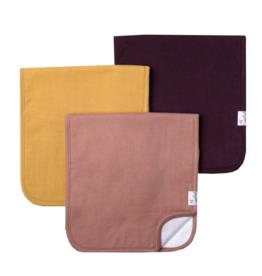 Copper Pearl Jade Burp Cloth Set 3pk