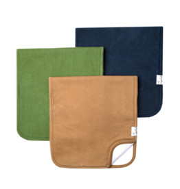 Copper Pearl Ridge Burp Cloth Set 3pk