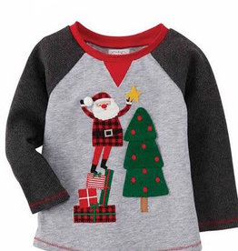 Mud Pie Santa with Tree Star Tee