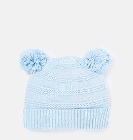 Joules Pom Pom Knitted Hat Light Blue