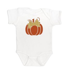 Sweet Wink Pumpkin SS Bodysuit White