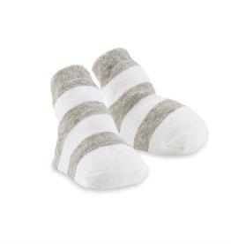 Mud Pie Gray Thick Stripe Socks