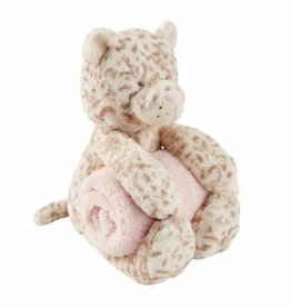 Mud Pie Leopard Plush With Blanket