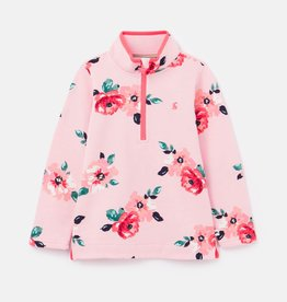 Joules Fairdale Pink Floral Half Zip Sweater