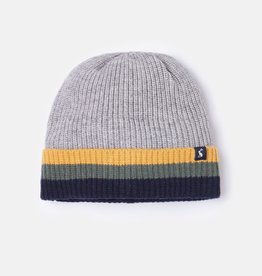 Joules Millway Gray Marl Ribbed Hat