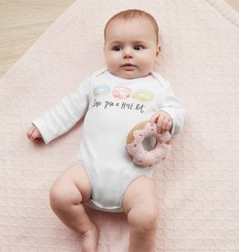Mud Pie Donut Rattle & Onesie Set
