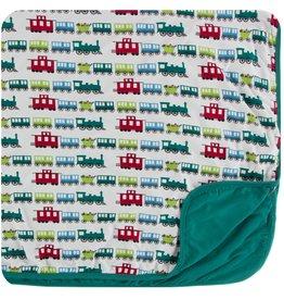 Kickee Pants Toddler Blanket Natural Toy Train